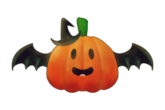 CUTE WITCHY PUMPKIN FOR HALLOWEEN